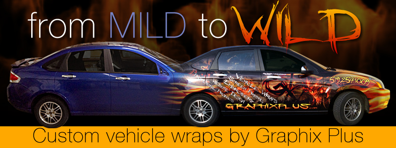 Let us take your ride from mild to wild with a custom vehicle wrap!