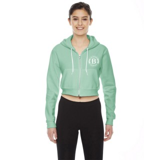 F397 - Cropped Flex Fleece Zip Hoodie - product thumbnail
